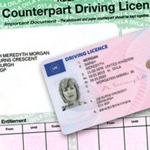 driving license counterpart
